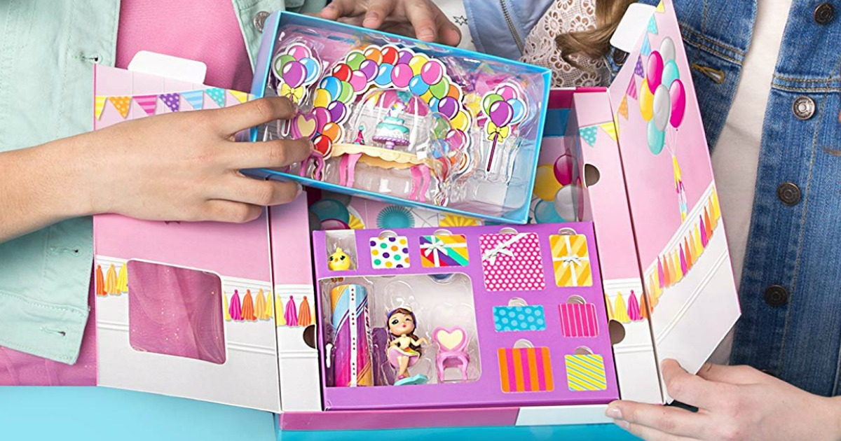 ... Rainbow Unicorn Party Surprise Box Playset with Confetti Party Popteenies