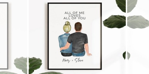 Personalized Couples Art Print Just $17.98 Shipped