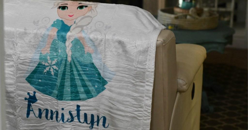 Personalized Princess Mink Blanket