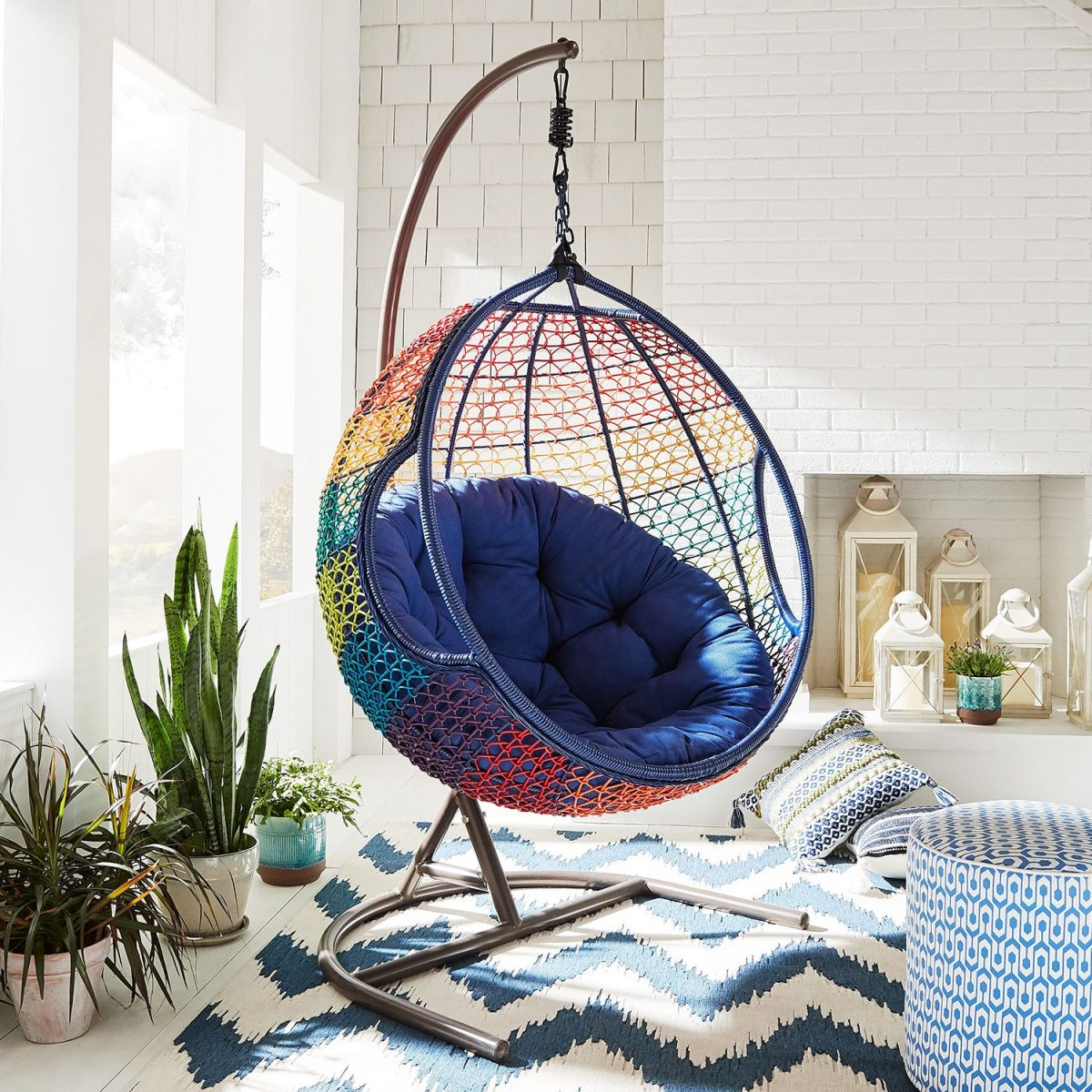 hanging egg chair at Pier 1