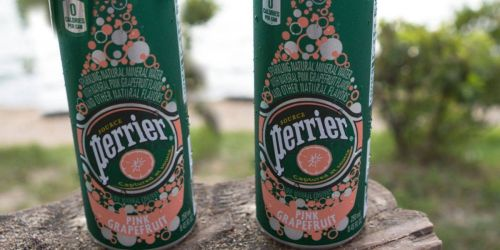 Perrier Pink Grapefruit Flavored Carbonated Mineral Water 30-Pack Only $11.86 on Amazon