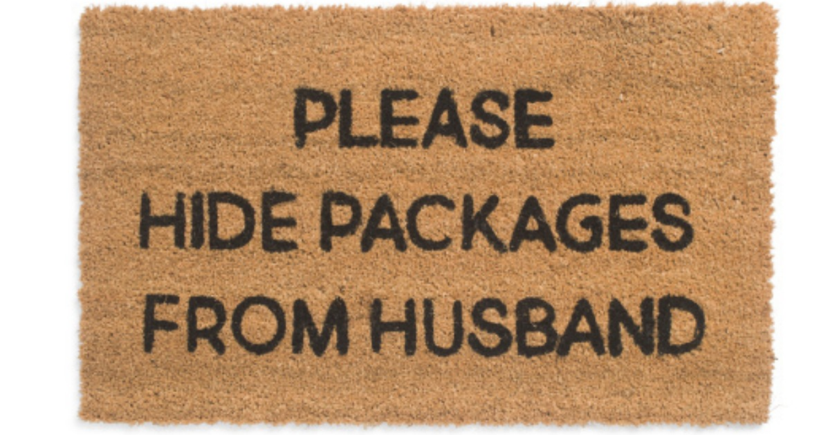 Please Hide Packages from Husband Doormat as Low as $9.99