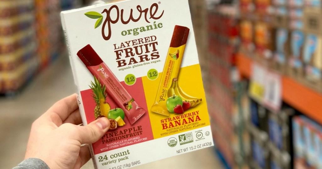 Pure Organic Layered Fruit Bars at Costco