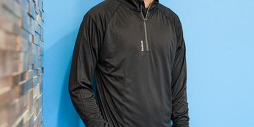 TWO Reebok Men's PlayDry Quarter Zip Jackets Only $31.99 Shipped (Just $16 Each)