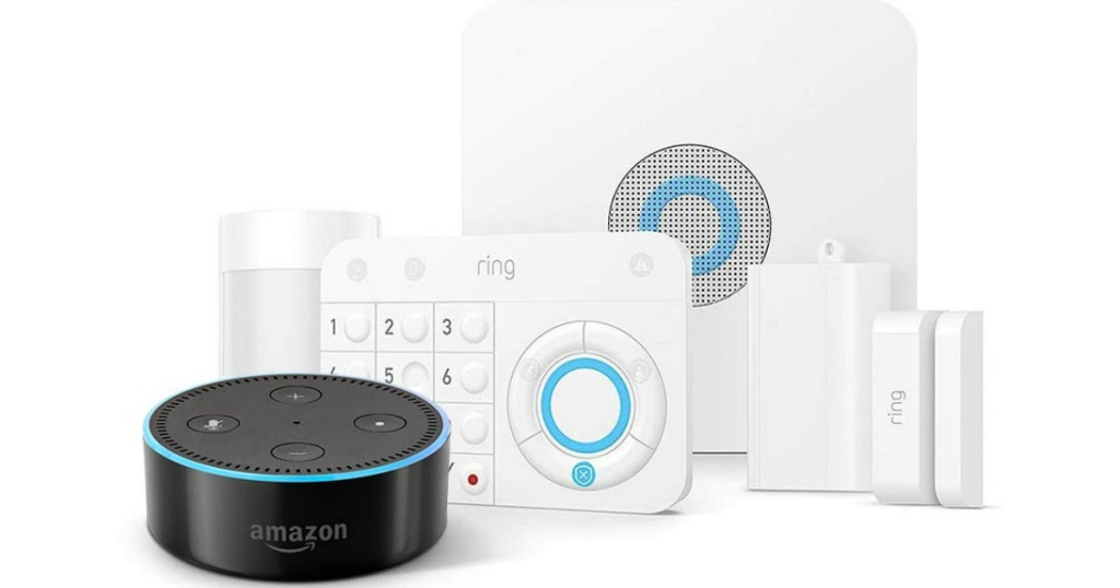 Ring Alarm Home Security System with echo dot