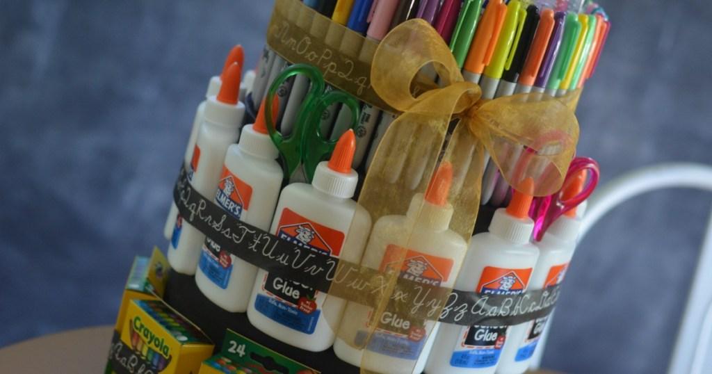 school supply DIY Cake