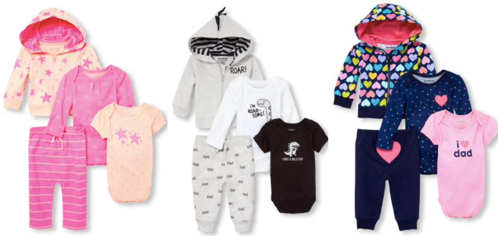 7af85ab75 Baby Hoodie Bodysuits And Pants 4-Piece Playwear Sets Only $9.98 (regularly  $39.95)