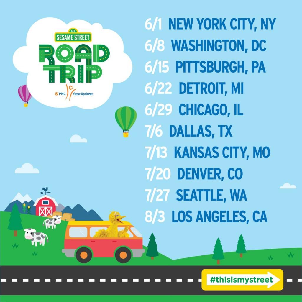 Sesame Street Road Trip Calendar