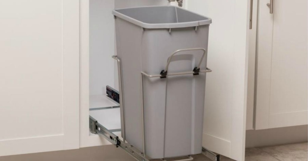 Simply Put 35-Quart Plastic Pull Out Trash Can Only $22 98