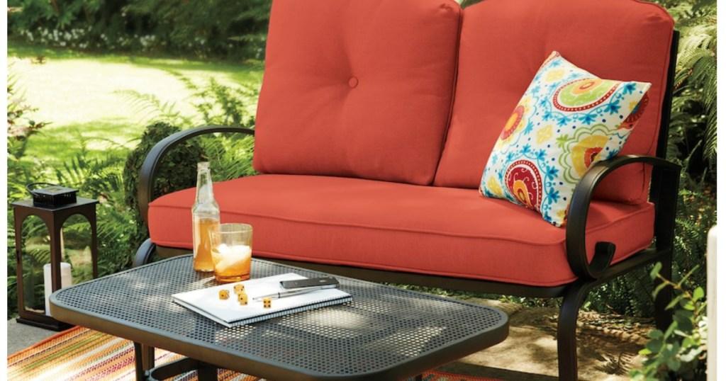Outdoor Loveseat Coffee Table Set As Low 192 Shipped Earn 30 Kohl S Cash