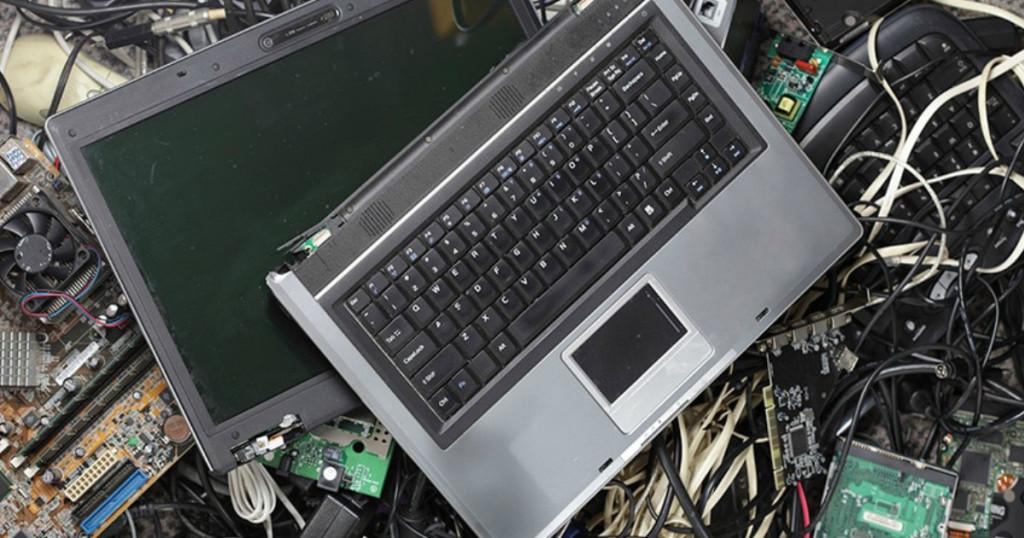 broken laptop computer