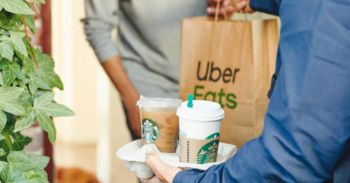 Starbucks Delivers via Uber Eats
