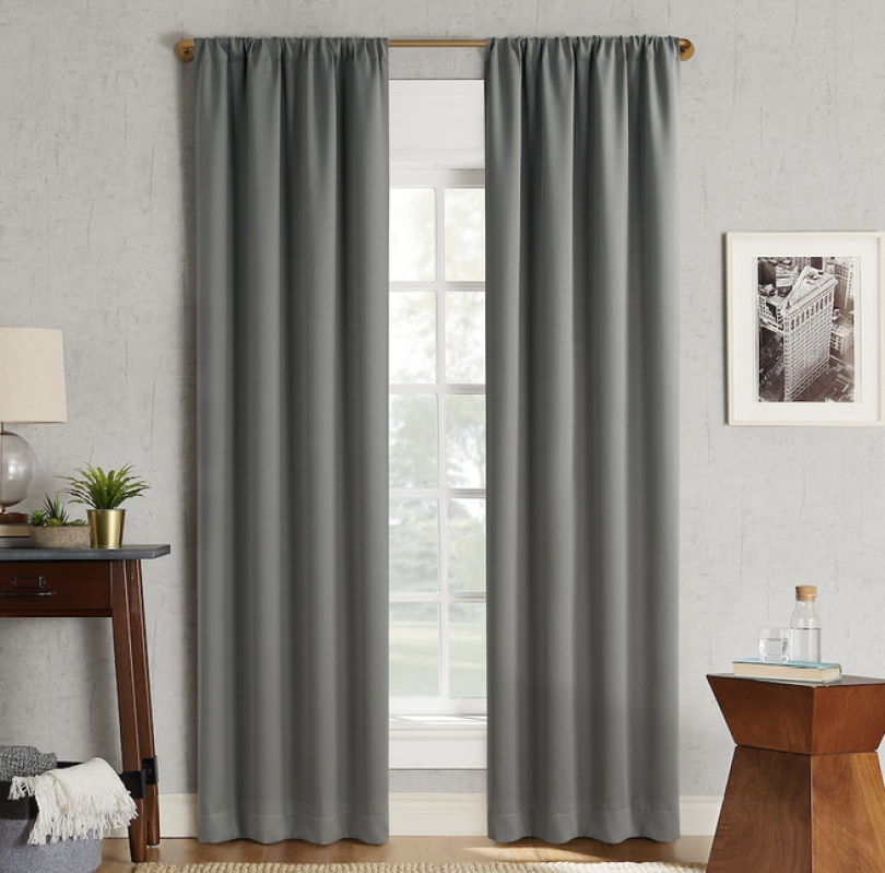 Dark grey blackout curtains from Kohl's