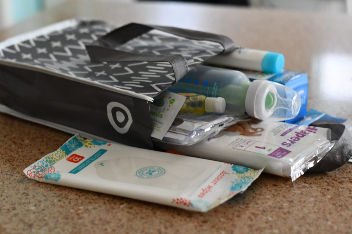 Target Baby Welcome bag with free samples, coupons, and items
