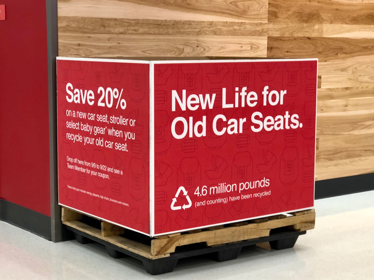 car seat recycling station at Target