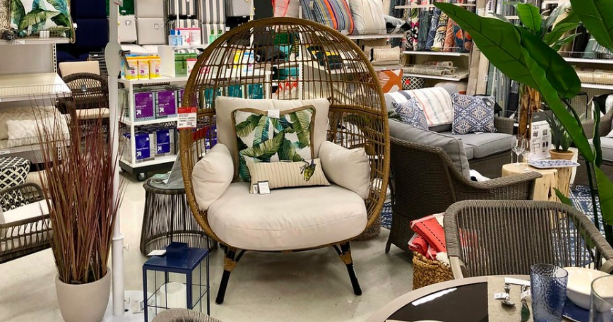 egg chair at Target