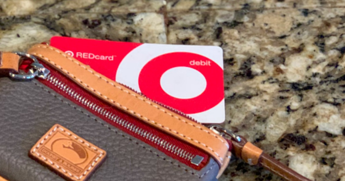 Target REDcard in purse on a counter