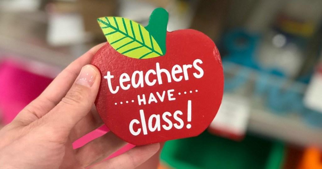 Teachers Have Class red apple