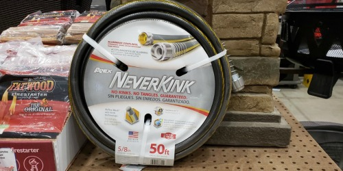 Lowe's: 50′ Teknor Neverkink Heavy-Duty Garden Hose Only $14.98 (Regularly $25)