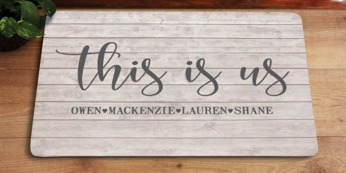 Personalized This is Us Doormat Only $9.99 at Walmart (Regularly $20) + More