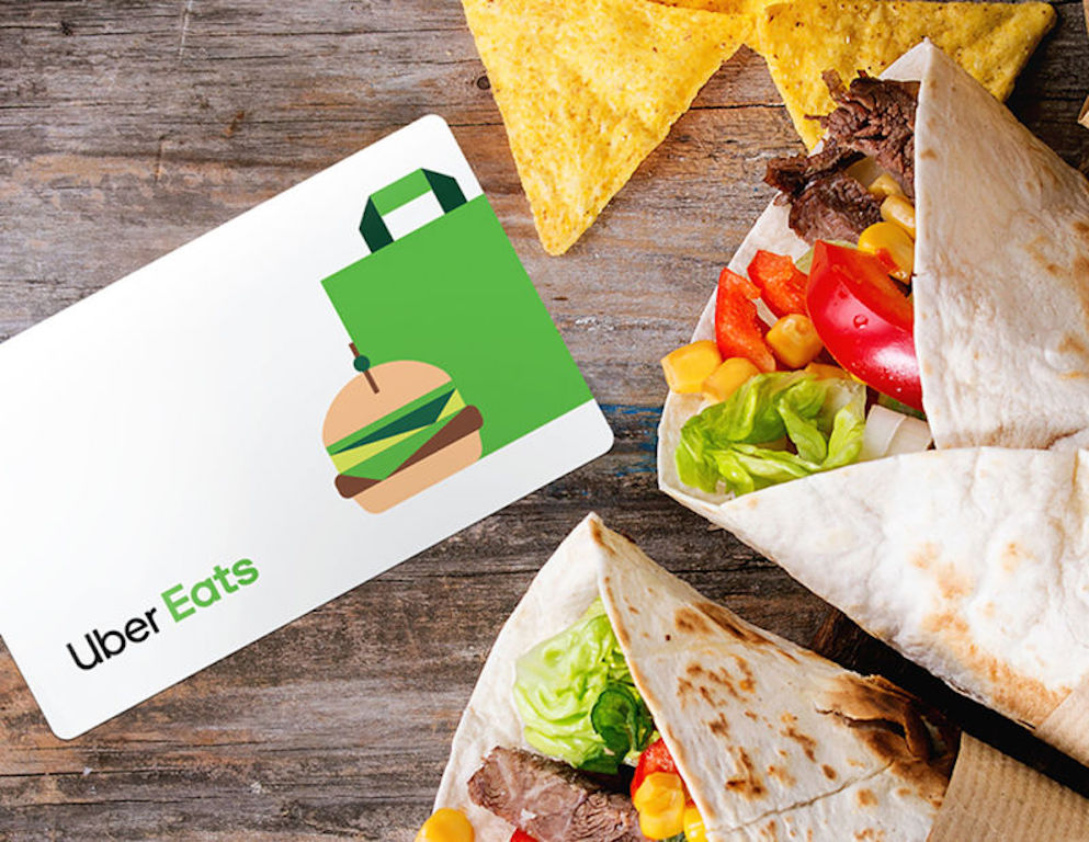 uber eats gift card with tacos