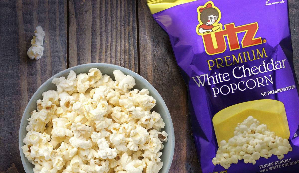 Utz brand white cheddar popcorn