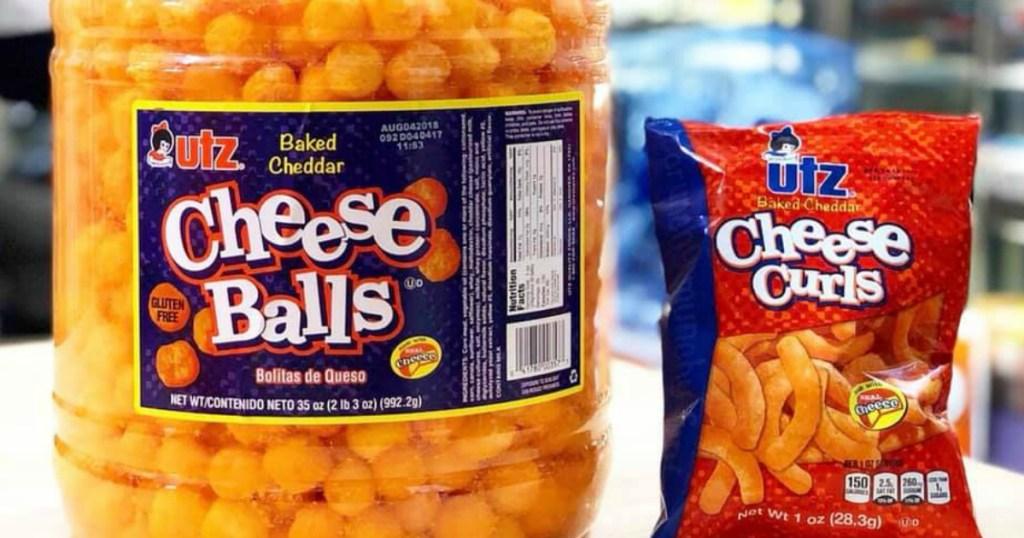 Utz cheese balls and curls