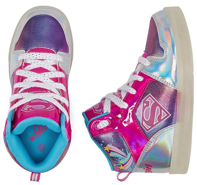 61011b143d85b4 Warner Bros Supergirl Light-Up Girls Sneakers Only  26.99 (regularly  50)