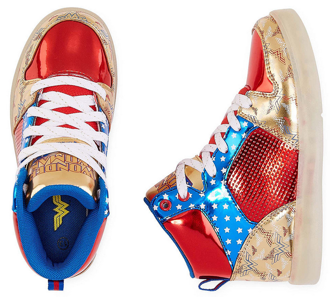 a2ba32be62634 Warner Bros Wonder Woman Light-Up Girls Sneakers Only  26.99 (regularly  50)
