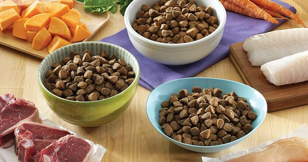 bowls of Natural Wellness Brand Pet Food