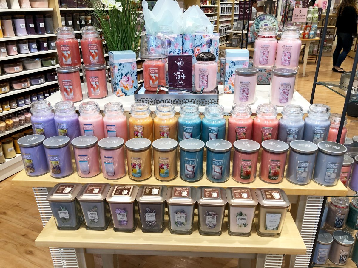 store display of candles