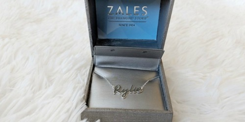 Zales Personalized Script Name Necklace Only $17.99 (Regularly $60)