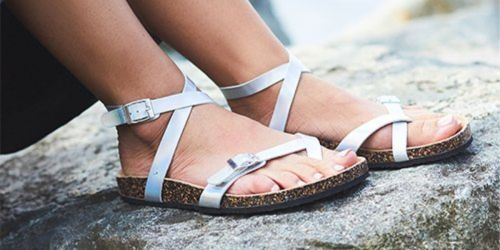 Women's Footbed Sandals Only $9.99 at Zulily
