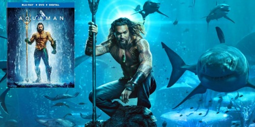 Aquaman Blu-Ray + DVD + Digital HD Combo Just $14.99 (Regularly $25)