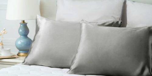 Amazon: Bedsure Satin 2-Pack Pillowcases as Low as $7.99 (Helps with Frizz)