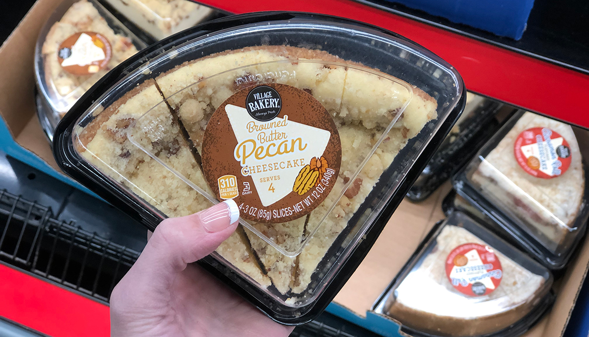 aldi food finds april 3 - browned butter pecan cheesecake