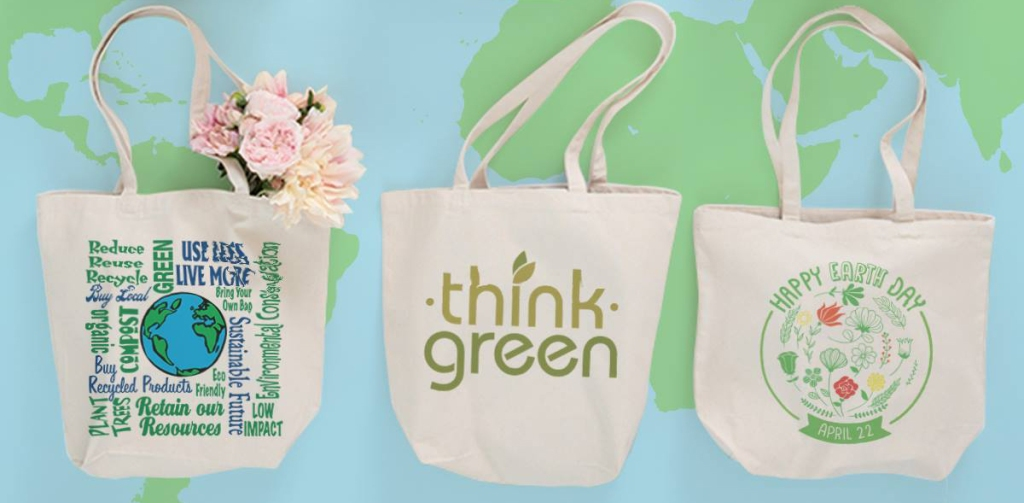 cafepress custom earth day canvas tote bags