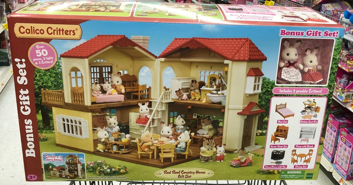 Huge Calico Critters Country Home 50 Piece Set Only 49