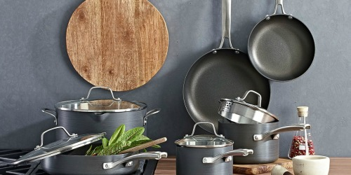 3542fc4ecc21 Calphalon 10-Piece Cookware Set Just  118.99 Shipped (Regularly  280) +  FREE Pan