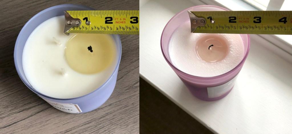 candle burning comparison