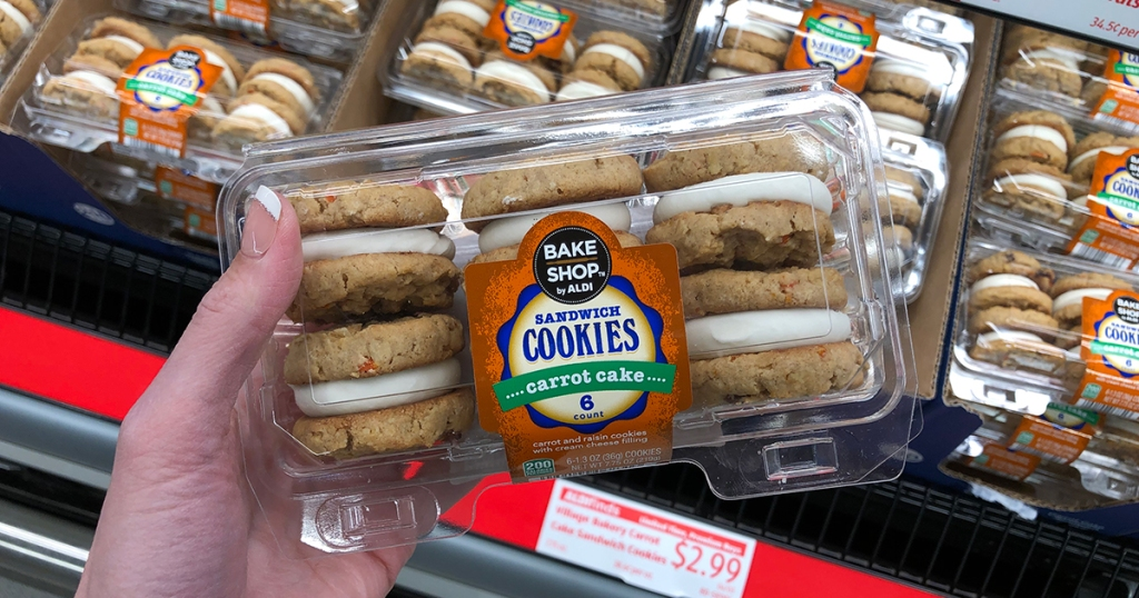 aldi food finds april 3 - carrot cake soft cookies