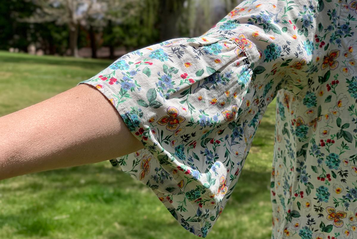 walmart wednesday – collin showing bell sleeve on walmart blouse