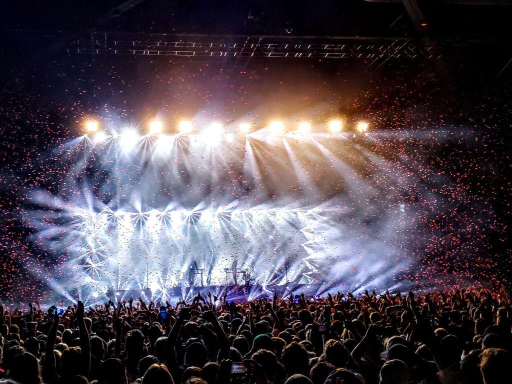 bright lights at concert