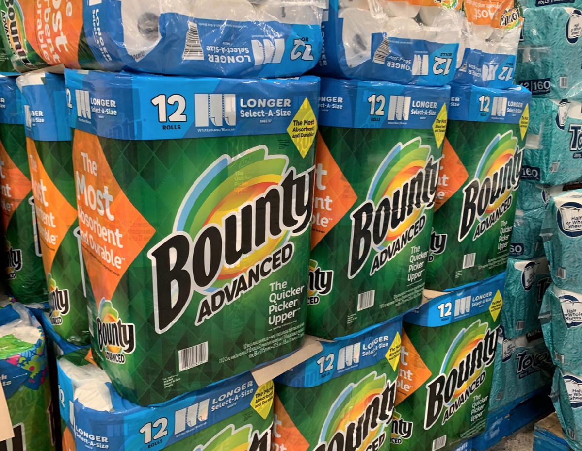 Bounty paper towels at Costco