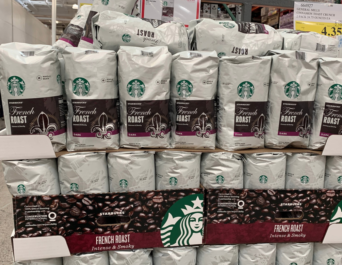 Starbucks french roast coffee at Costco