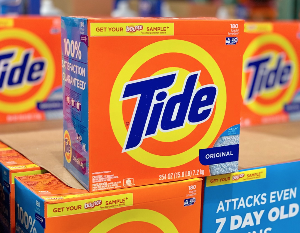 boxes of Tide at Costco