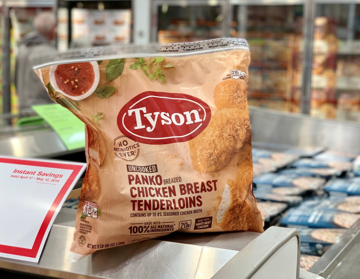 tyson pank chicken breasts at Costco