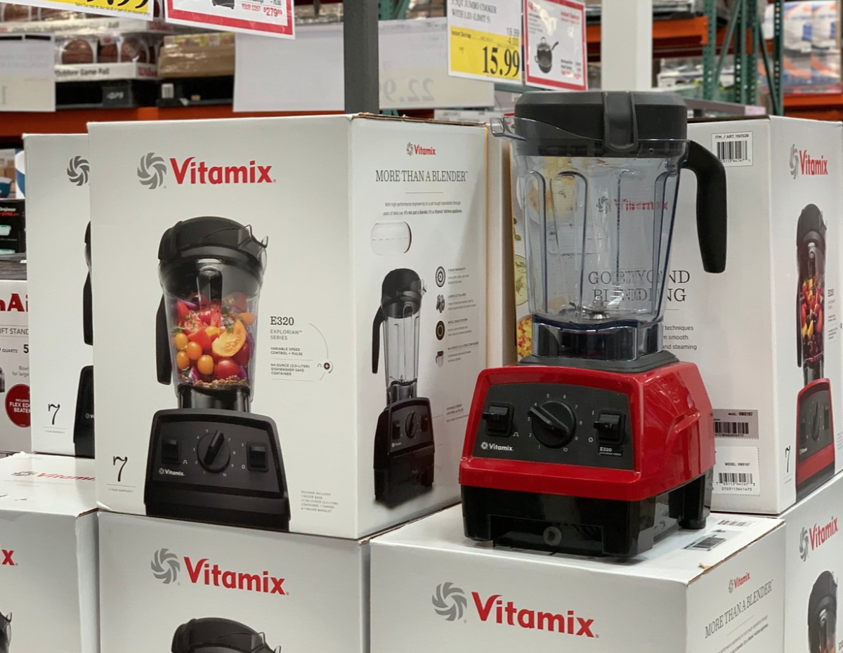 red vitamix blender at Costco