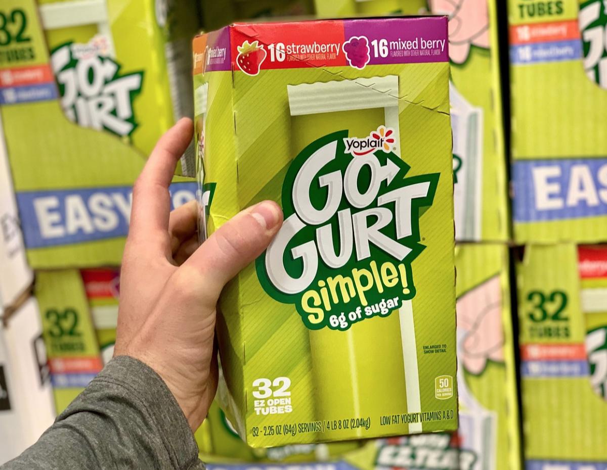 gogurt ez open tubes box at Costco