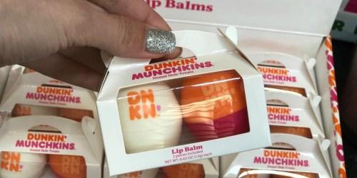 Dunkin' Munchkins Donut Hole Lip Balms Now Available